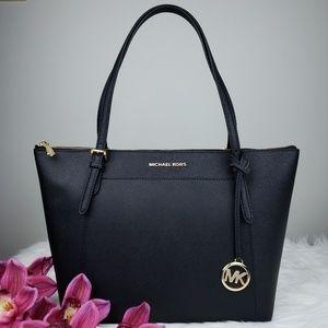🌺NWT Michael Kors LG EW Ciara Tote Bag Black MK